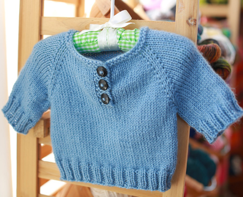 A Simple Baby Pullover - Free Pattern