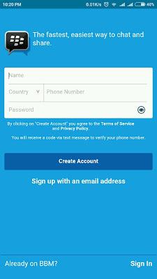 Cara Daftar BBM Dengan Nomor Telepon | Sign in BBM Hp Android