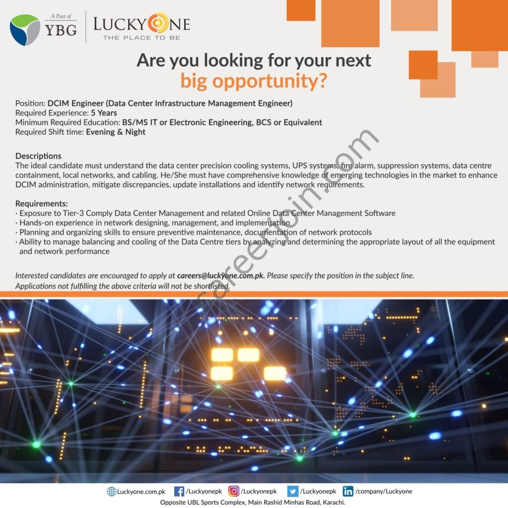 Latest Jobs 2021 in Lucky One Mall