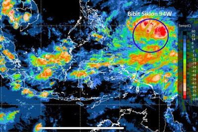 BPBD Diminta Tidak Anggap Sepele Bibit Siklon Tropis 94W