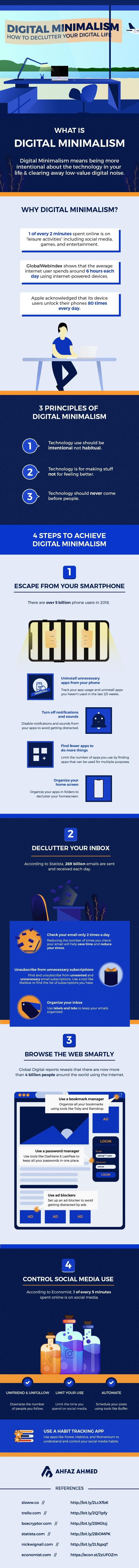 How To Declutter Your Digital Life #infographic