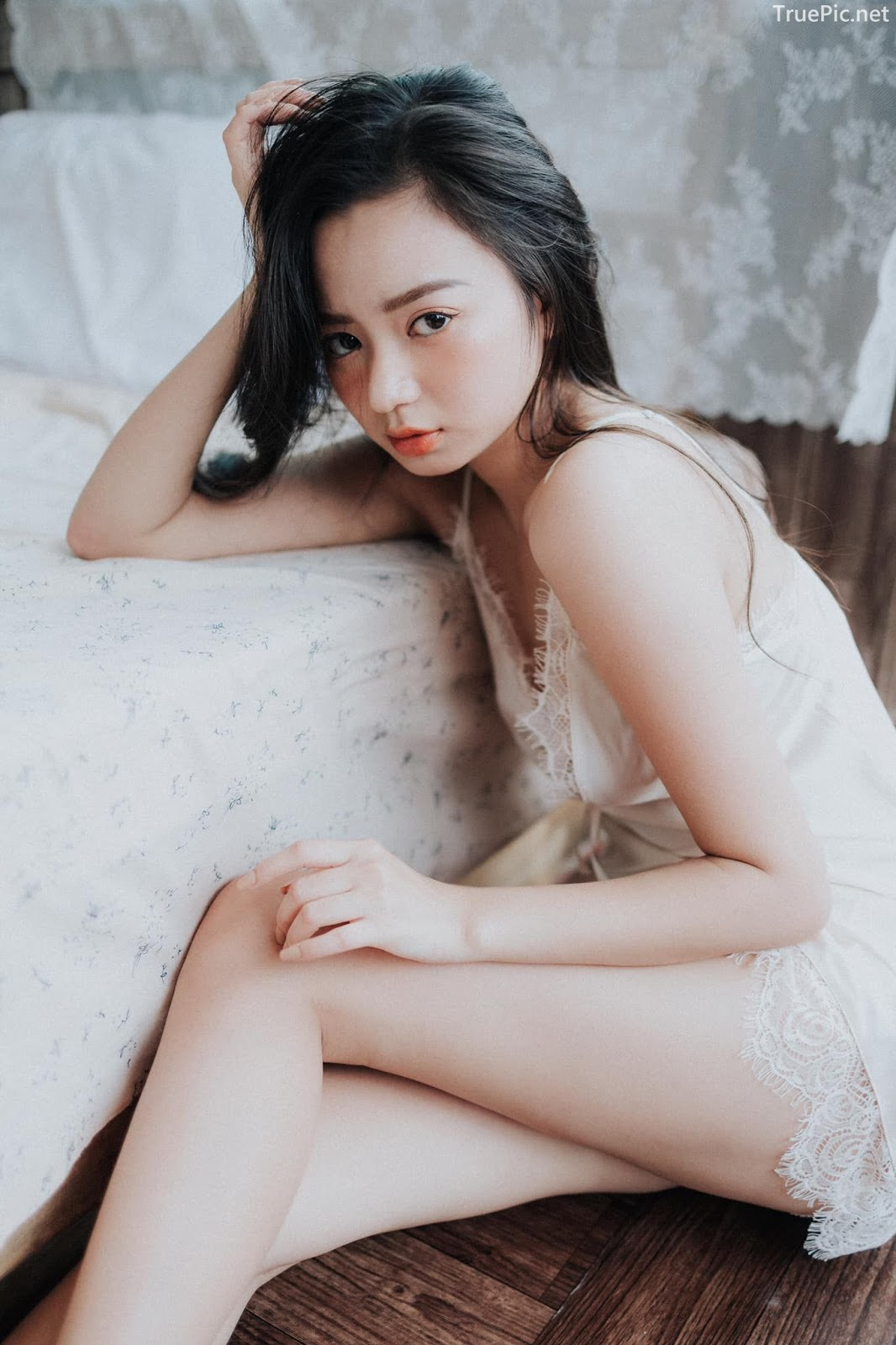Vietnamese Sexy Model - Vu Ngoc Kim Chi - Beautiful in white - TruePic.net- Picture 24