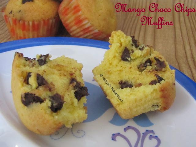 mango chocochip muffins