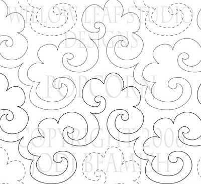 'Popcorn' digital Quilting pattern by Willow Leaf Studio