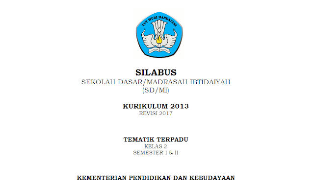 Silabus K-13 Kelas 2 SD/MI Tema 2
