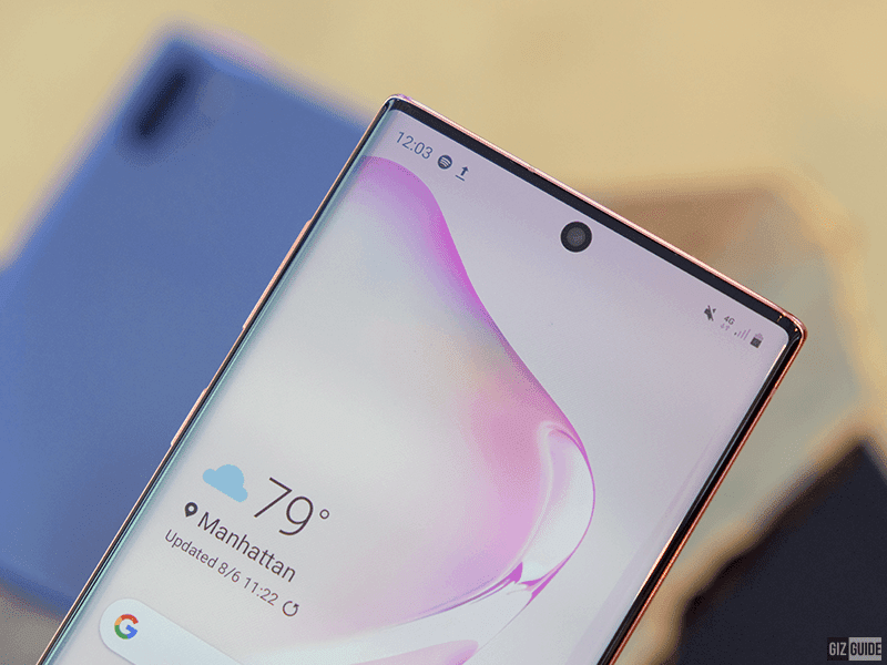 Samsung Galaxy Note10 series' front-facing camera
