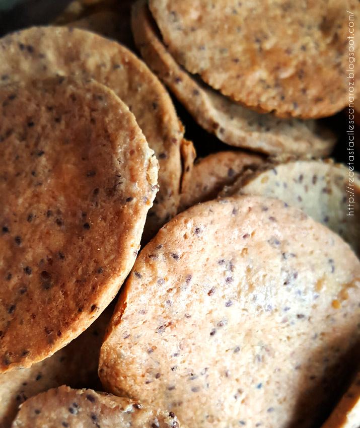 crackers de semillas sin gluten
