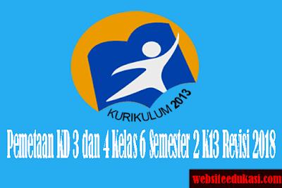 Pemetaan KD Kelas 6 SD/MI Semester 2 K13 Revisi 2018