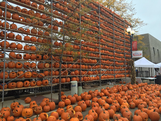 Pumpkins as far as the eye can see at The Great Highwood Pumpkin Festival.
