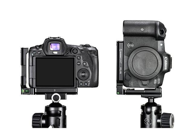 Sunwayfoto PCL-R5 on EOS R5 in Landscape and Portrait orientation