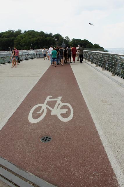 Велодорожка на новом мосту