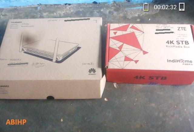 Kotak modem IndiHome dan STB untuk useetv.