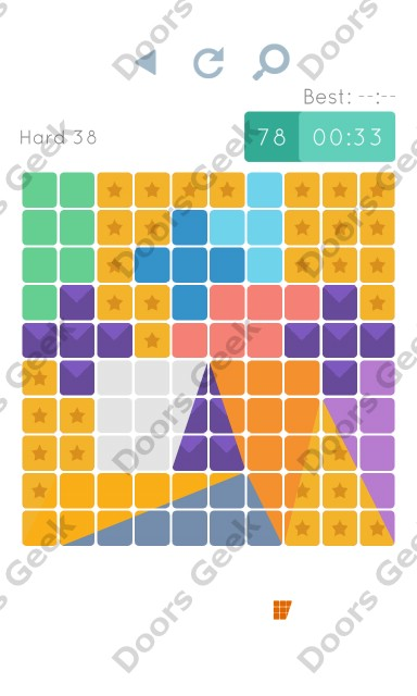 Cheats, Walkthrough for Blocks and Shapes Hard Level 38