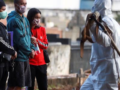 País registra 751 mortes por covid-19 em 24h e bate novo recorde