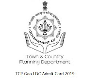 TCP Goa LDC Admit Card