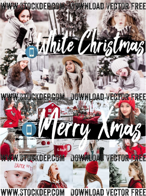 Download free White Christmas Mobile Lightroom Presets Vector Noel