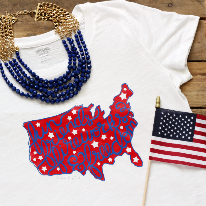 Fun, Friends, Fireworks & Freedom Tee