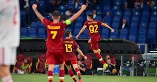 دوري المؤتمر الاوروبي واصل روما إبداعهم في المباراة مع مورينيو ، حيث فاز خمسة ضد سسكا