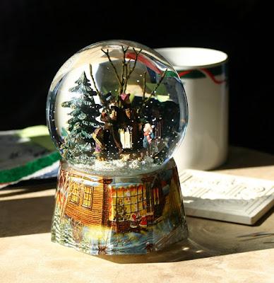 Schnee, Kugel, Deko, Weihnachten, Winter