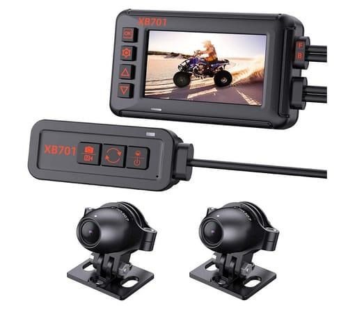 Blueskysea XB701 1080P Front Rear Motorcycle Dash Cam