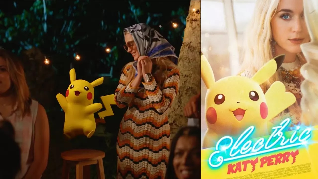 Katy Perry Released a Pokémon Themed Music Video named 'Electric' Starring Pikachu