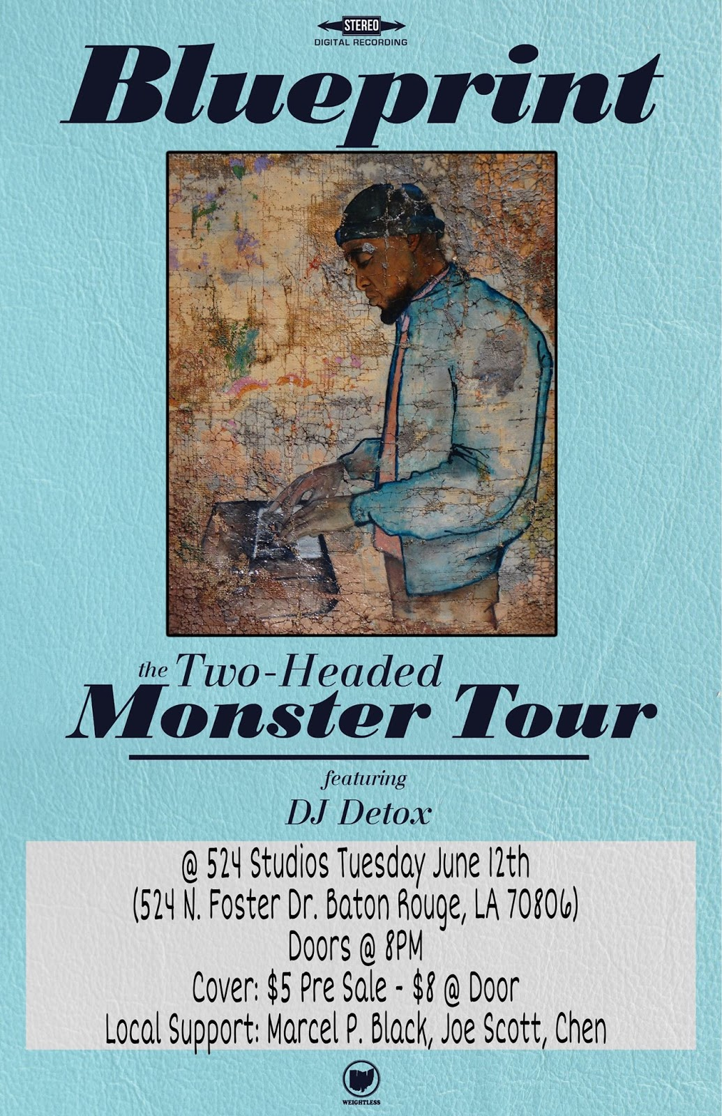 The non traditional conscious emcee ohio legendary emceeproducerauthorfilmaker blueprint brings his two headed monster tour to baton rouge to promote his new album of the same name malvernweather Image collections