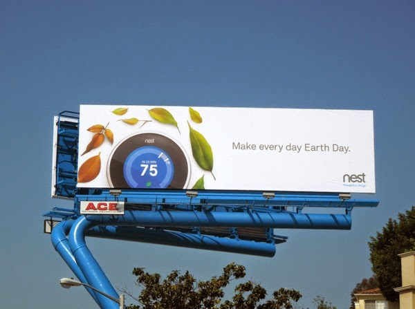 Nest Make every day Earth Day billboard