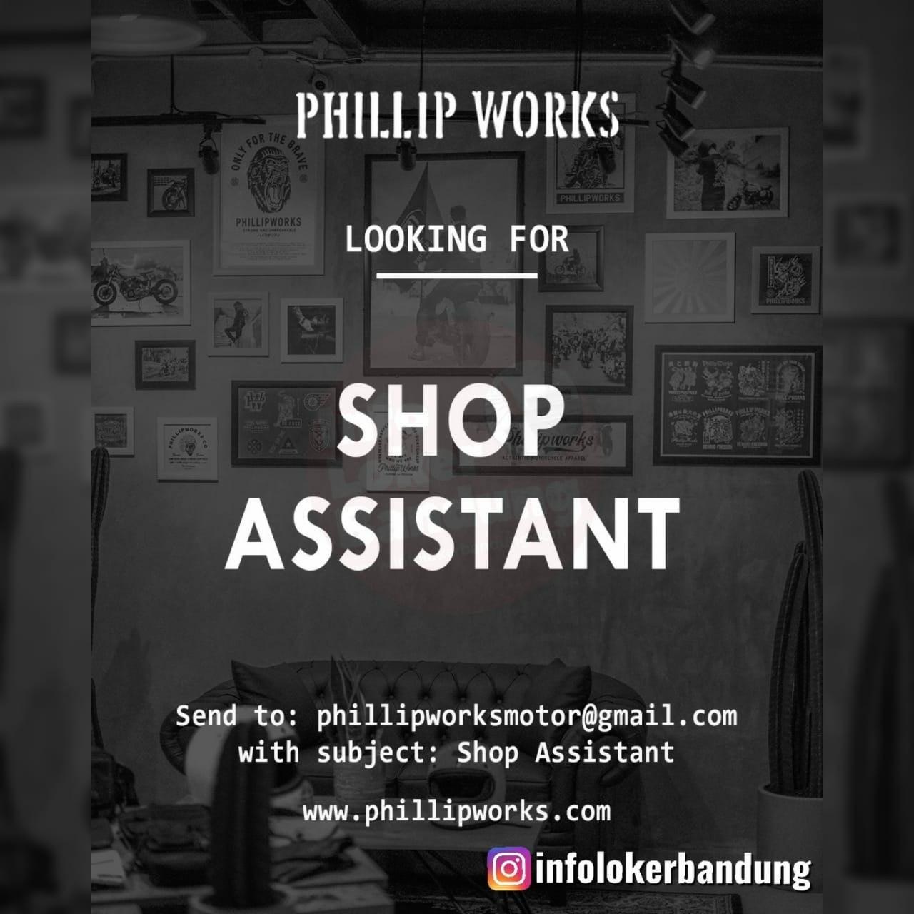Lowongan Kerja Shop Asistant Phillip Works Bandung Maret 2020