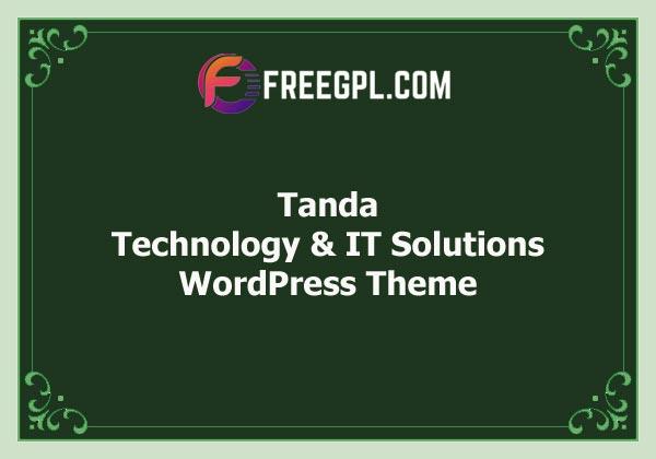 Tanda - Technology & IT Solutions WordPress Theme Free Download