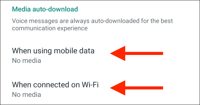 اضغط على بيانات الهاتف المحمول أو خيارات الواي فاي