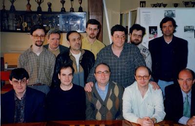 Equipo del Club Ajedrez Sabadell en 1998