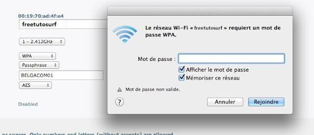 retriuver mot de passe wifi oublier