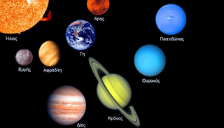 Γιατί όλοι οι πλανήτες του ηλιακού μας συστήματος έχουν αρχαιοελληνικά ονόματα;