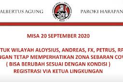 Misa Minggu 20 September 2020