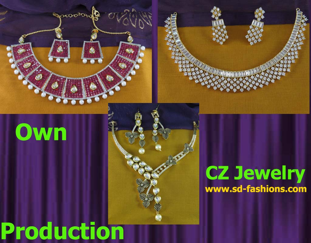 f2dad4cbd CZ Jewelry Wholesale and Manufacturing. Indian Wholesale Supplier in CZ  Jewellery.