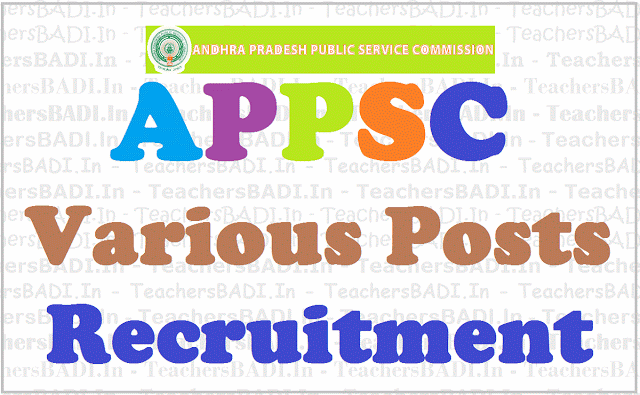 APPSC jobs, Assistant Directors,Recruitment notification