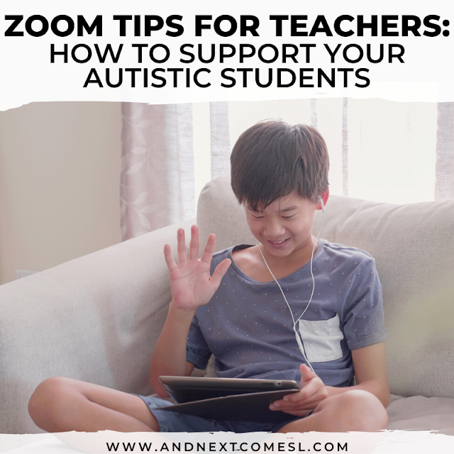 Zoom tips and tricks for teachers who work with autistic children