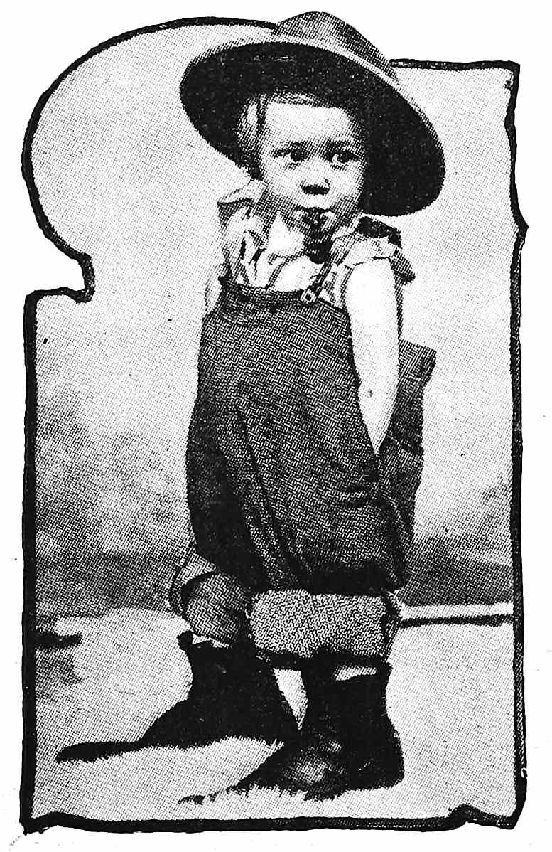 1899 little boy smoking a cigarette, a photograph