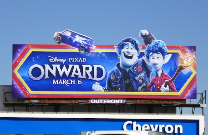 Onward movie billboard