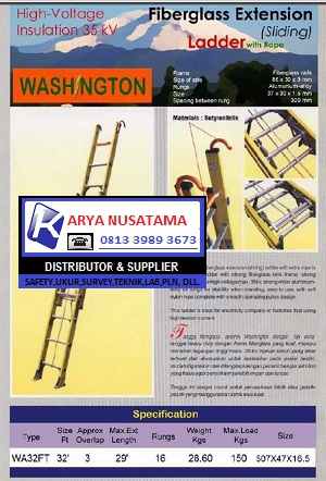 Jual Tangga Washington Fiberglass 32FT di Surabaya