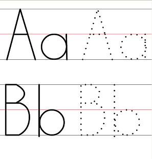Free worksheets preschool letter tracing free math for Traceable alphabet templates
