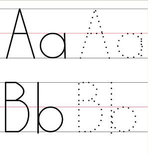 Common Worksheets » Trace Alphabets - Preschool and Kindergarten ...