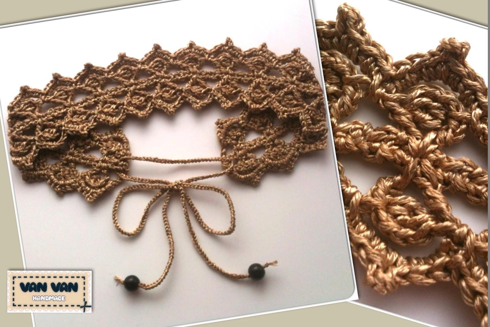 Mostaza Y Media Textil Antes Van Van Handmade Diadema Reinona - Diadema-ganchillo