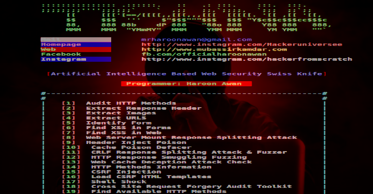 Tishna : Automated Web Application Hacker 2020
