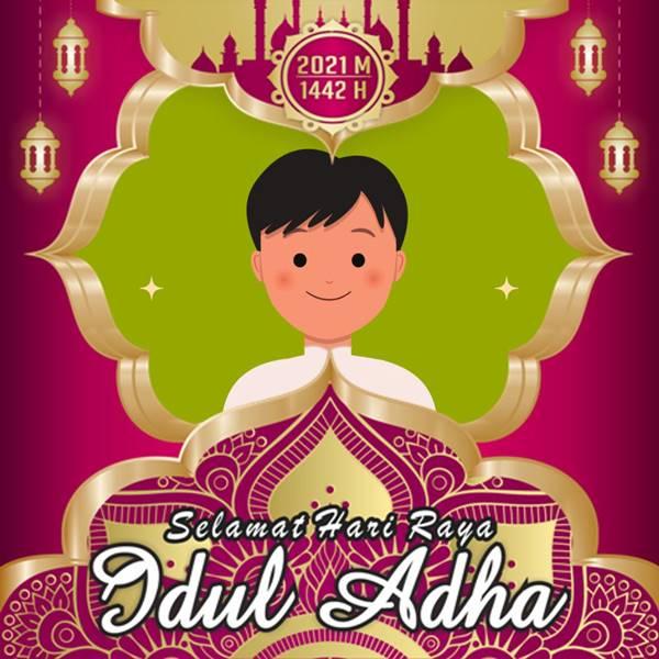 Desain Twibbon Hari Raya Idul Adha oleh Galeri Corel