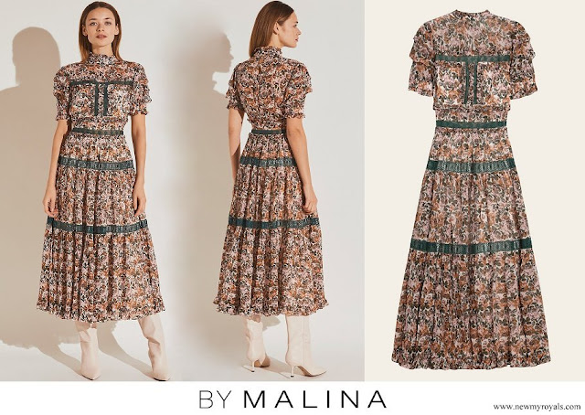 Crown Princess Victoria wore By Malina Iro maxi dress
