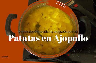 Receta de Patata, Almendras y Ajo