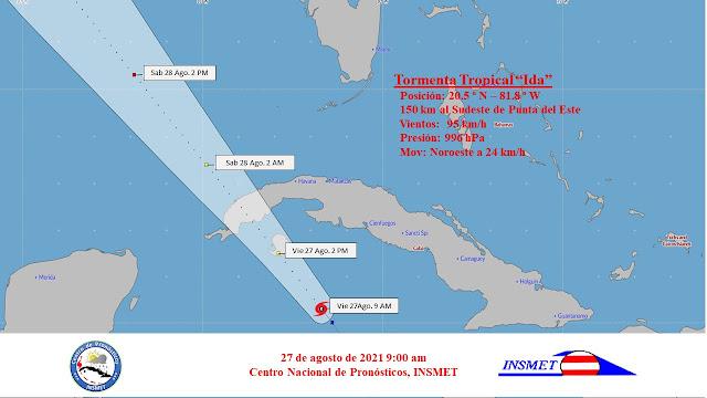 Ida se convierte en huracán y se aproxima a la Isla de la Juventud