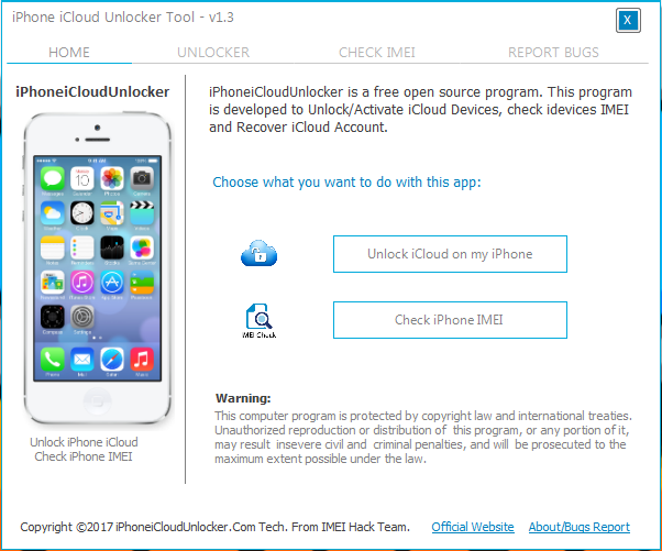iPhone iCloud Unlocker v2019 100% Unlocking Tool Download