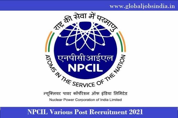 NPCIL Various Trade Apprentice Online Form 2021 Apply Now
